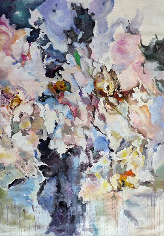 ABSTRACT FLOWERS 70x100cm