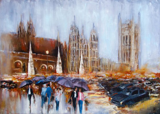 London rainy day