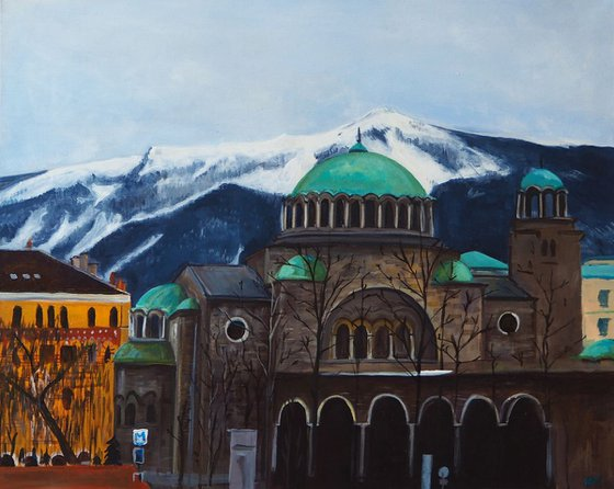 """St. Nedelya"" - 60x80cm - Artwork Acrylic on Canvas"