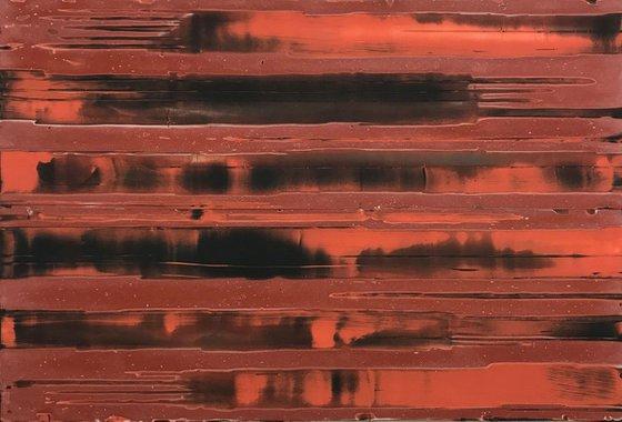 Untitled (red, orange, black)
