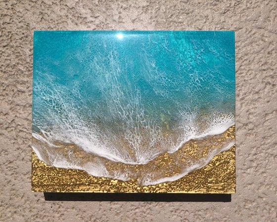 Seascape Teal Waves #38 Ocean Waves Painting