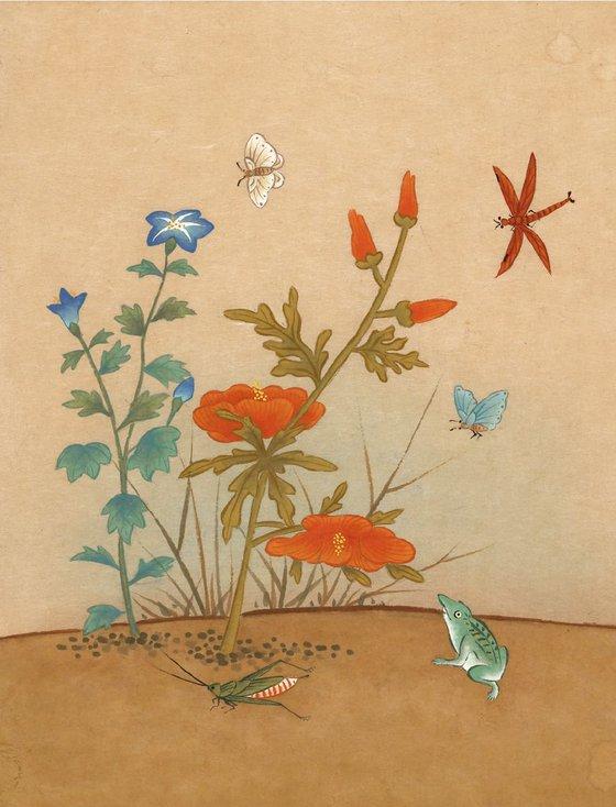 Hibiscus & Frog