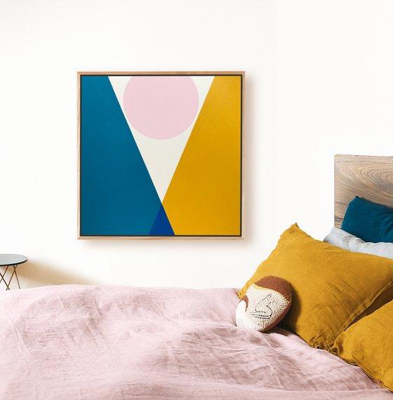 Clasp (Geometric Acrylic Painting)