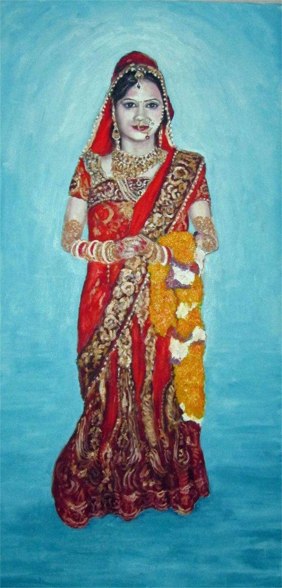 varsha in hindu wedding costume