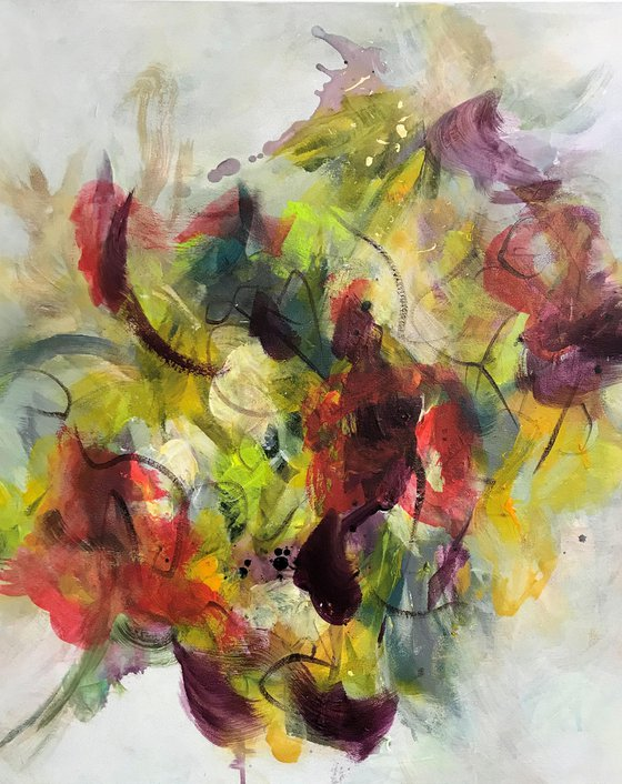 Floral Abstract III - Mixed Bouquet