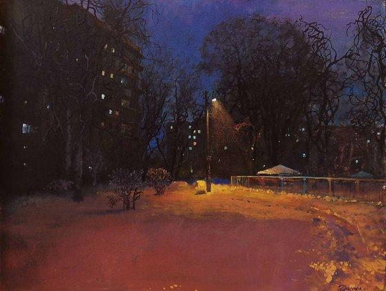 Streets of Kyiv at night