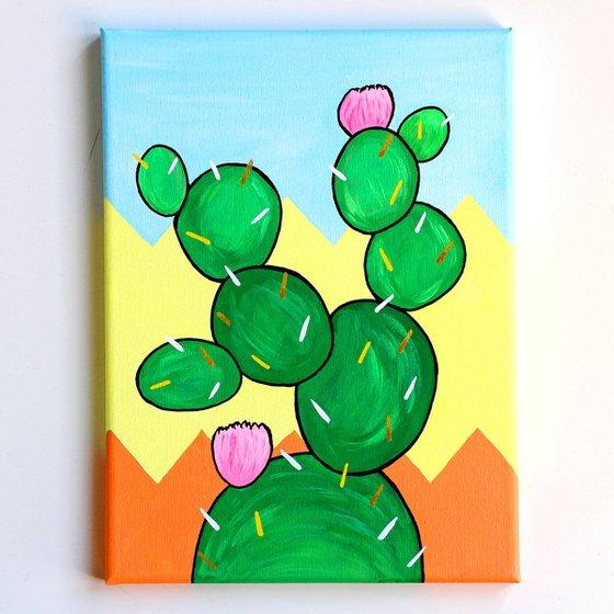 Cactus Number Three - Pop Art Painting On Canvas