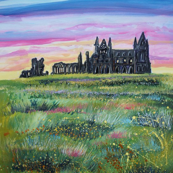 Whitby Abbey - Evening Sunset