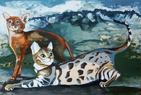 Painting   Acrylic   Cats