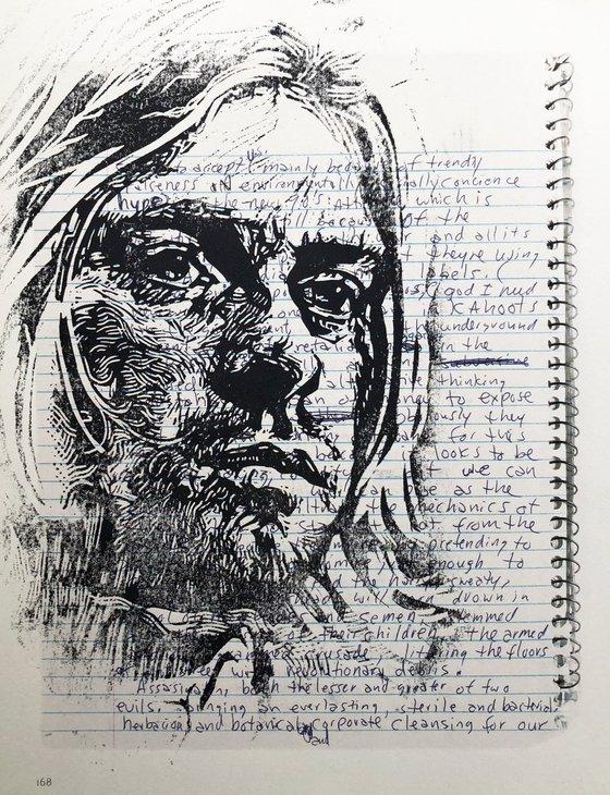 Kurt Cobain Book Print