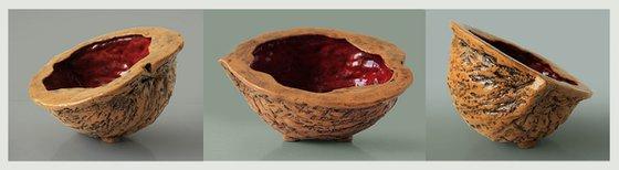Ceramic | Sculpture | Red nut