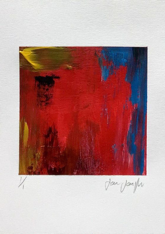 Colour Fuse 2 (Red) -small abstract painting
