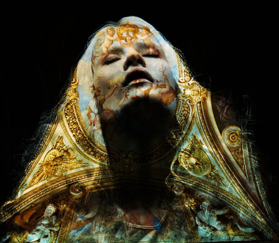ANGELS & DEMONS - BY TOMAAS PRINTS UNDER ACRYLIC GLASS FOR SALE