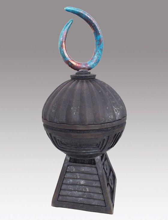 'The Kings Orb' Raku Fired Sculpture