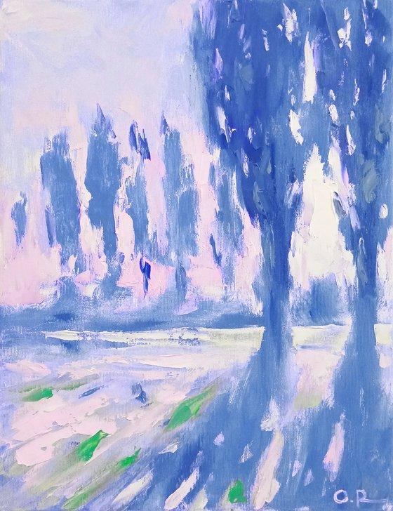 Sun in poplars