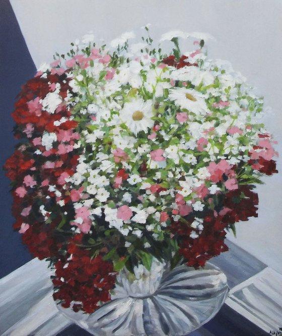 Flowers 2-oil on canvas