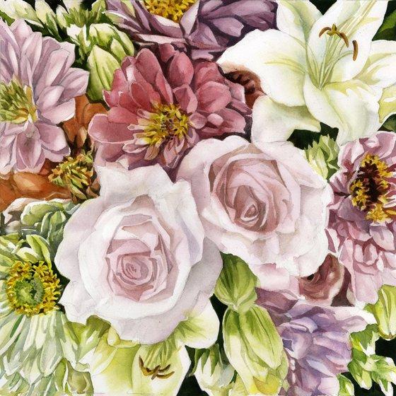 spring bouquet watercolor