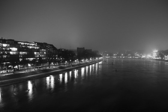 The Rhein, Basel, Switzerland, Study II [Unframed; also available framed]