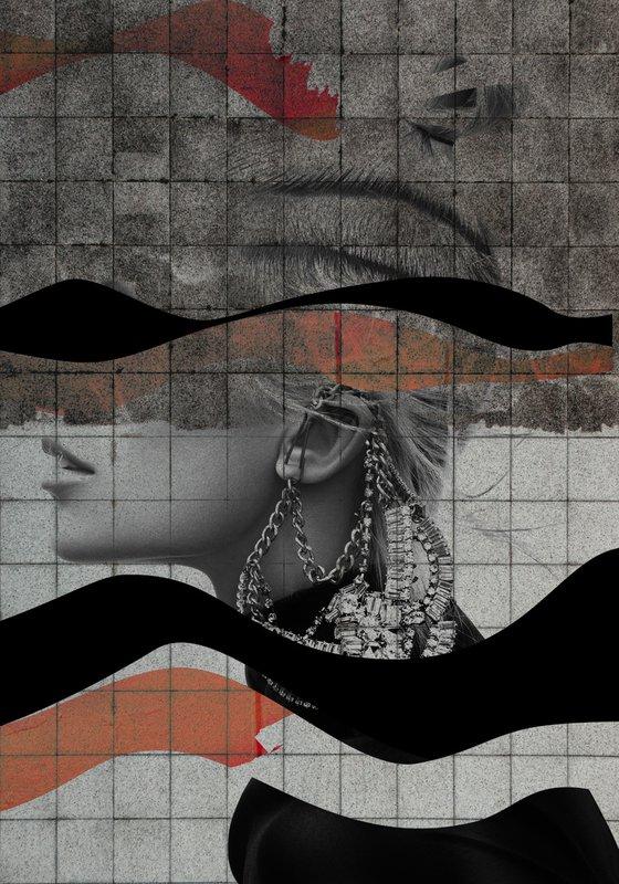 "Face art collection ""Fedbergsun"" - Vol 38. Art portrait on canvas"