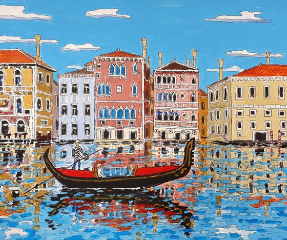 palaces on grand canal, venice