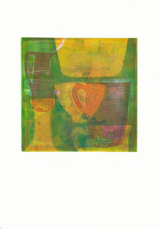 Monoprint - Still life no. 2