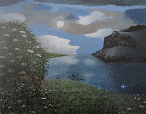 Dunsapie Loch at Night