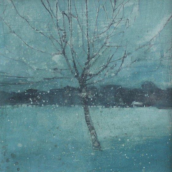 First snow, Gildrede Park, Eastbourne