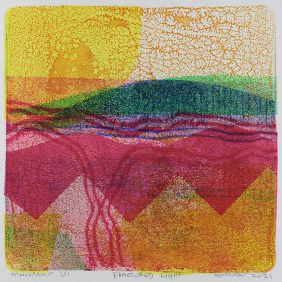 Fractured Light - Unmounted Signed Monotype