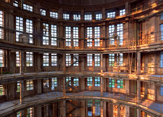 Industrial tower interior