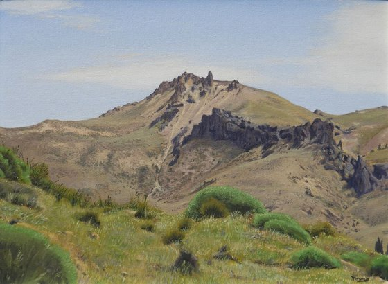 Steppe mountain