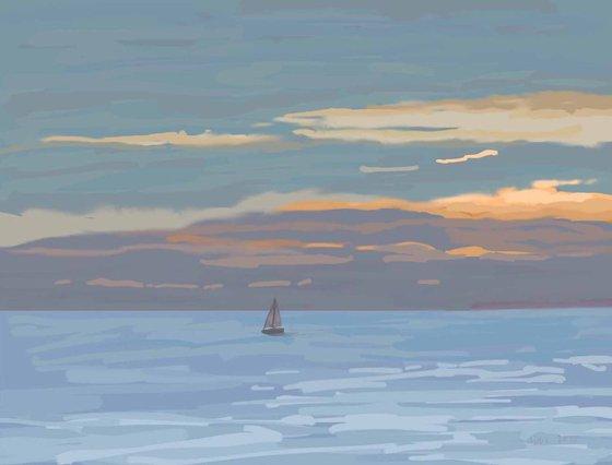 Sunset, St Leonards, 17/2/18