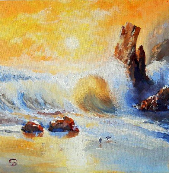 Rough wave - Garrapata beach