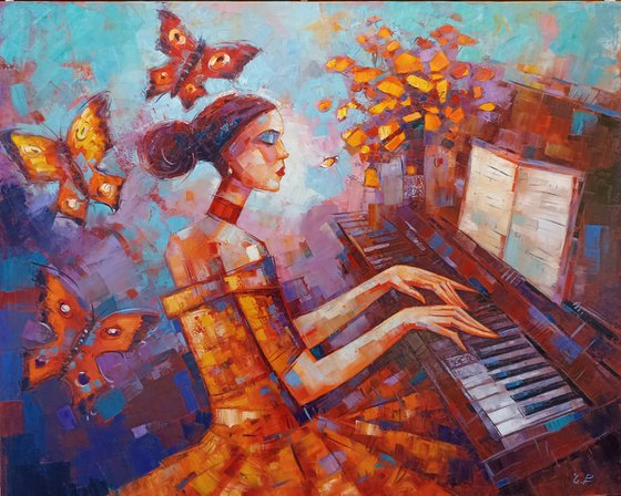 Fairytale music (80x100cm, oil painting)