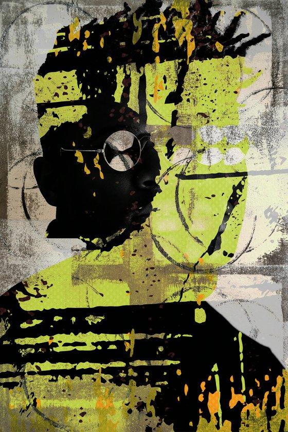 "Face art collection ""Fedbergsun"" - Vol 35. Art portrait on canvas"