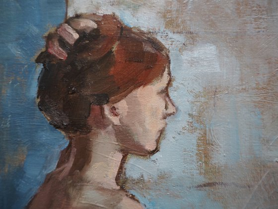 Nude study with blue