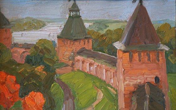 Novgorod. Rainy day