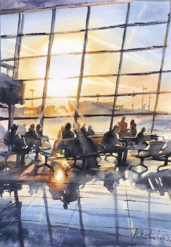 Sunrize in Airport