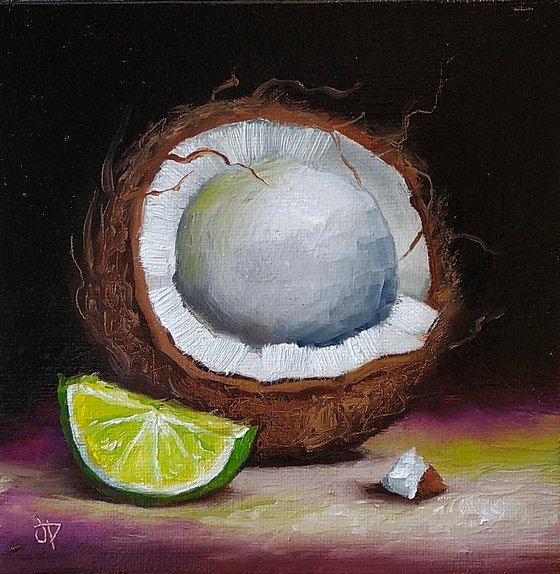 Coconut lime still life