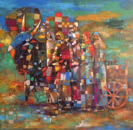 Peaceful haven(70x73cm oil/canvas)