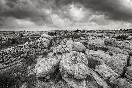 Stone desert of the Burren - Landscape Art Photo from Ireland