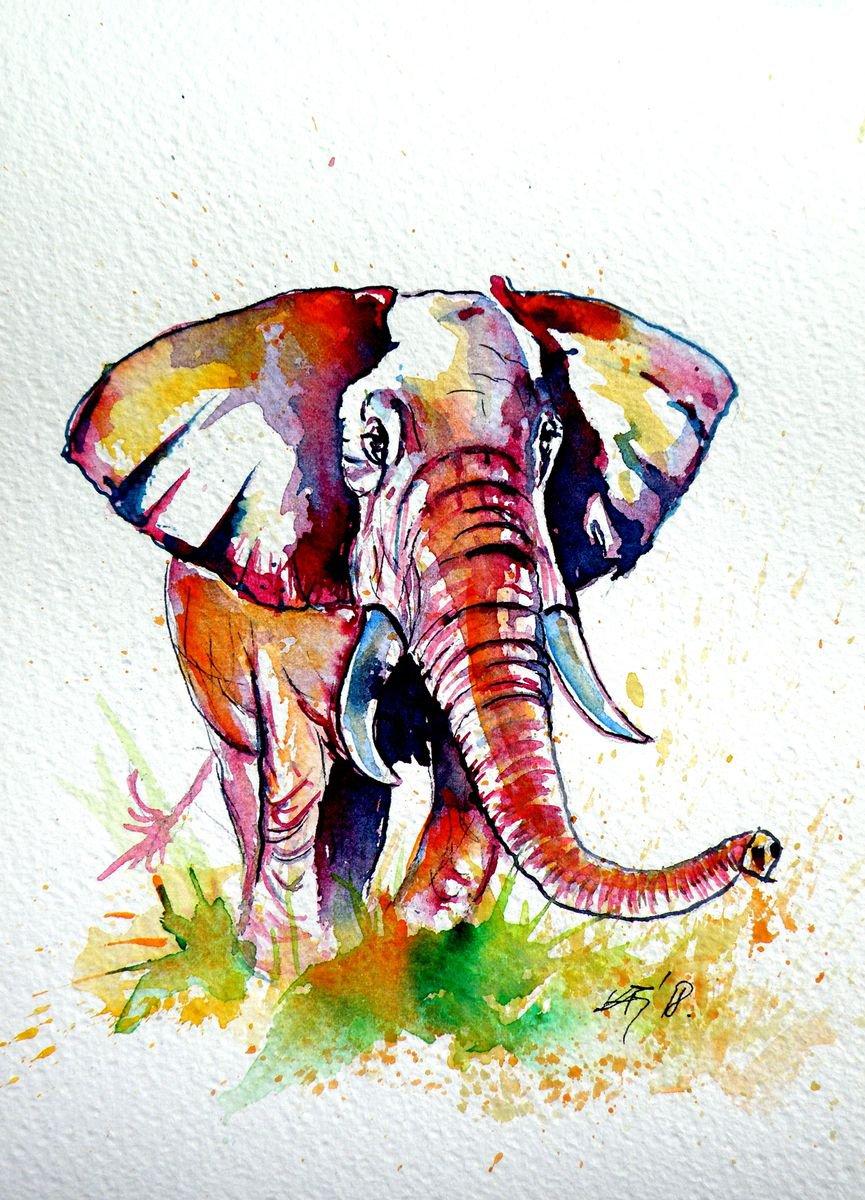 Яндекс, картинки со слонами нарисованные