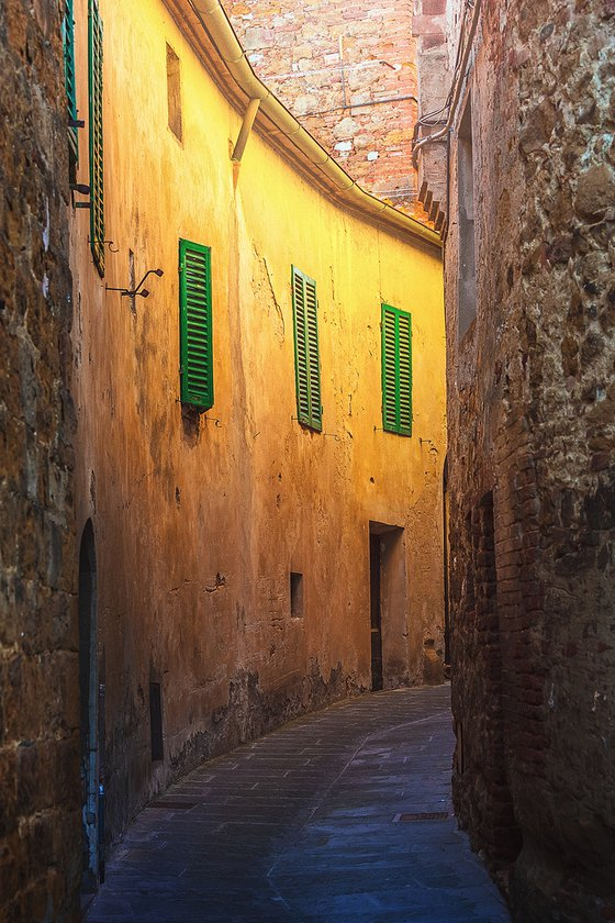 Old town street in Tuscany