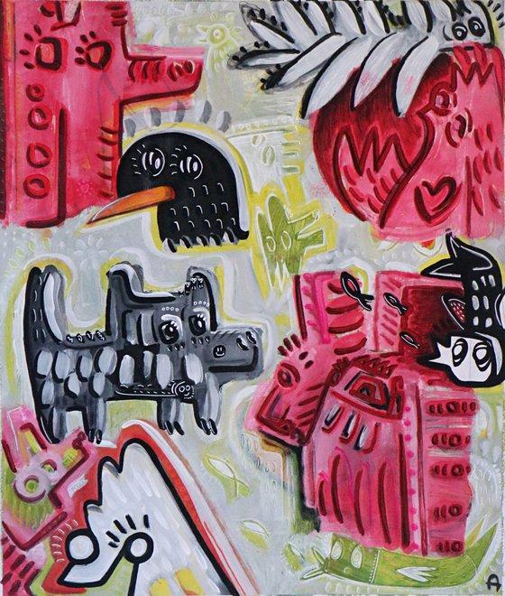 ANIMAL PARTY 82x98cm