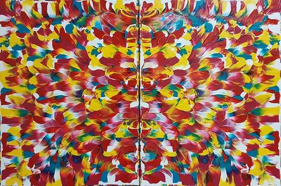 "Masquerade | 24"" x 16"" | Original Multi-panel Abstract"