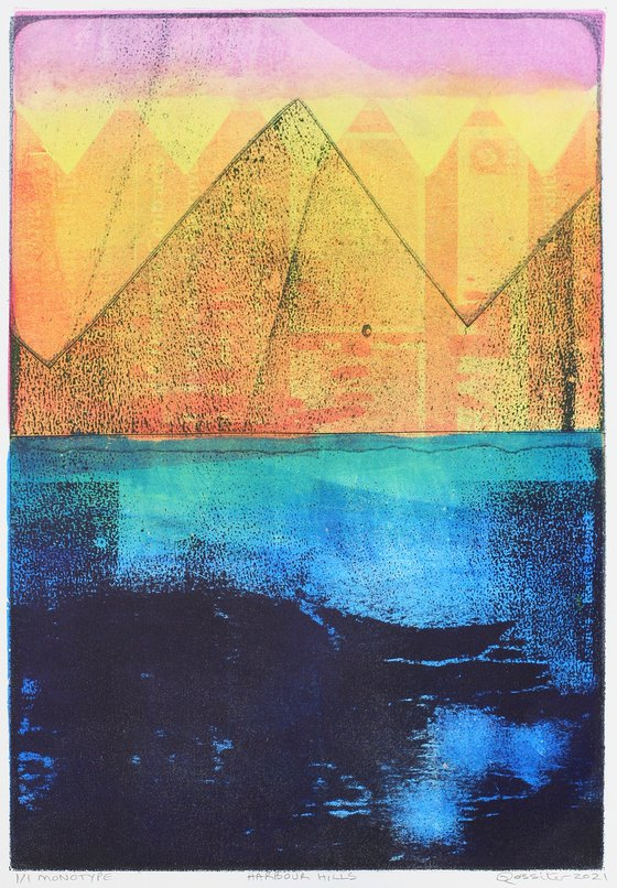 Harbour Hills - Unmounted Signed Monotype