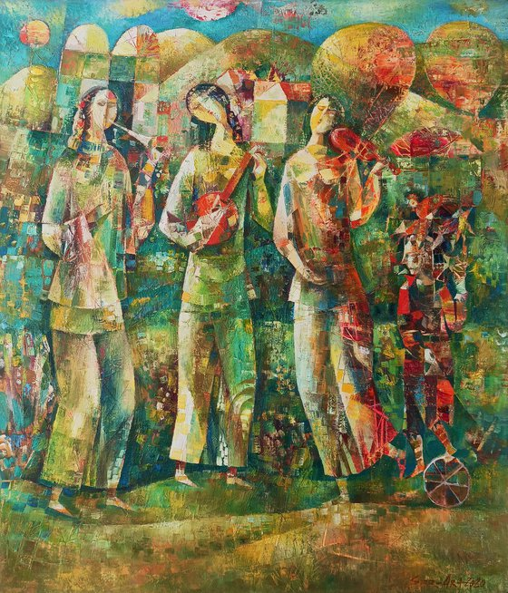 Spring melody (60x70cm oil/canvas, ready to hsng)