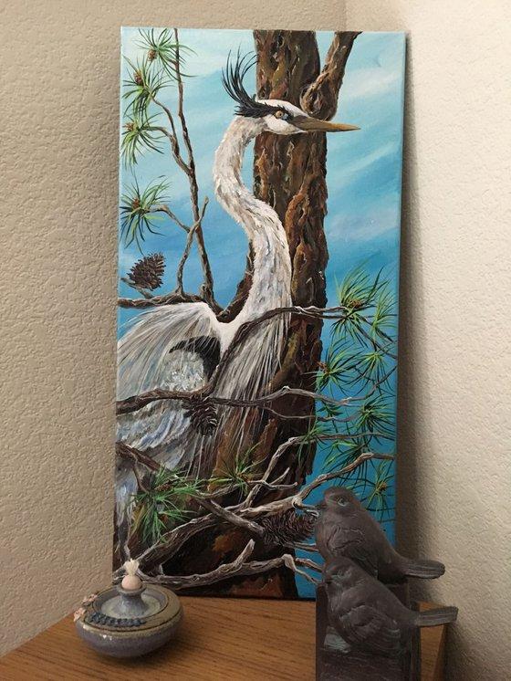 Heron in the Pines
