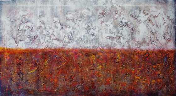 Abstract,red,yellow,white,red,brown,christmas sale was 595 USD now 445 USD.