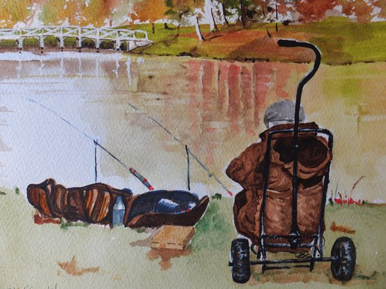 Fishing in Painshill Park