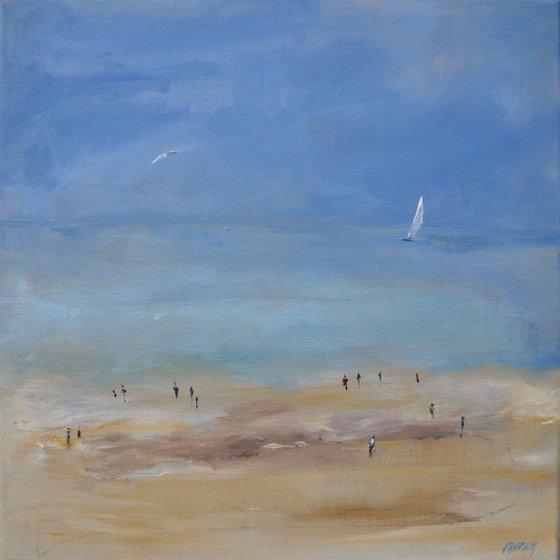 Far away on the beach